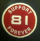 Hells Angels Big House Crew 'support 81 Forever' Support Patch - Red - Round