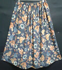 LADIES PLUS SIZE SKIRT BLUE FLORAL CLASSIC HANDMADE IN UK 30 32 34 36 38 40