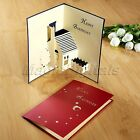 3D Pop Up Greeting Card Family & New Home Congratulations Valentine's Day Thanks