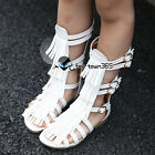Summer Baby Child Kids Girl Retro Buckle Tassel Rome High Boots Sandals Shoes