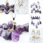 Faceted Teardrop Drop Stone Crystal Gemstone Pendant Bead Amethyst/Rock Quartz