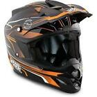 Answer Comet React Adults Motocross Enduro MX ATV Quad Helmet - Black/Orange