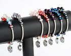 Crystal Glass Lucky Faceted Bead Ball Fashion Dangle Bracelet Charm Jewelry Gift