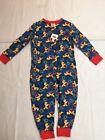 New Disney Mickey Mouse Childrens Boys Onesie All-In-One Blue
