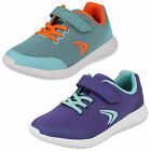 Girls Clarks Sprint Zone Inf Velcro Strap Trainers F & G Fittings