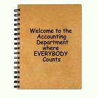 Blank Writing Journal Diary Notebook - Welcome to Accounting - 5 x 7 inch