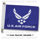 NEW AIR FORCE MOTORCYCLE FLAG   6X9 or 10X15   Double Sided and Double Stitched