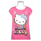 Hello Kitty Fuchsia Sparkle Graphic Short Sleeve Top Girls 7-12