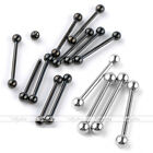 10x Punk Stainless Steel 18G Straight Eyebrow Barbell Bars Rings Body Piercing