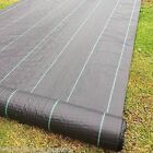 Heavy Duty Weed Control Woven Fabric Ground Cover Mulch Membrane Mat 100gsm
