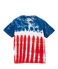 Groovy Blueberry Adult 4th of July Flag Tie Dye T-Shirt