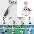 5x Santa Claus Christmas Xmas Charm Pendant Hook Clip On Lobster Clasp Findings