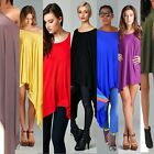 New Fashion Women Loose Batwing Long Top Cape Tunic Poncho Mini Dress Plus Size