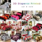 4pcs 3D Printed Bedding Set Quilt Cover/Bed Sheet/2 Pillowcases Queen Size A8L4