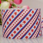 "7/8""22mm red star pattern printed grosgrain ribbon USA Independent day"