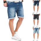 Shorts Jogg Jeans Herren Bermuda Joggjeans Denim Sweatpants Vintage Used Look