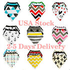 4 pcs(Bag) Drool Bibs with Snaps Bandana For Boy Girl Cotton Bibs
