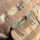 2pc Tactical Strap Molle Bag Buckle Tool Clip Camping Backpack EDC Accessories Y