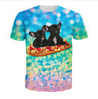 Newest Fashion Women/Mens  French Bread Pizza 3D Print Casual T-Shirt
