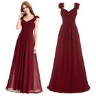 New Women Long Bridesmaid Prom Dress Formal Evening Wedding Ball Gown Plus Size