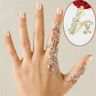 Rings Multiple Finger Stack Knuckle Band Crystal Set Womens Fashion Jewelry Gift