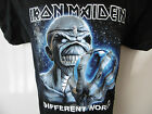 """*NEW* OFFICIAL IRON MAIDEN DIFFERENT WOLRD MENS BLACK T SHIRT SIZES M 40"""" CHEST"""