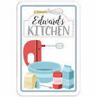"Kitchen 8"" x 12"" Sign Names Male Ea-Em"