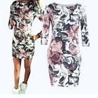 Printing Women's Summer Casual Half Sleeve Evening Party Short Flowers Dress UK
