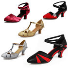Free Shipping Women's Ballroom Latin Tango Dance Shoes heeled Salsa Dancing