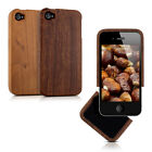 kwmobile WOOD COVER FOR APPLE IPHONE 4 / 4S CASE BACK HARD NATURAL MOBILE PHONE