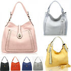 WOMEN'S FAUX LEATHER CELEB STYLE QUALITY SHOULDER HANDBAGS LADIES FASHION TOTES