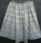 LADIES PLUS SIZE SKIRT blue/green paisley HANDMADE IN UK size 30 32 34 36 38 40