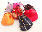 "ONE Small Drawstring Pouch Bag Jewellery Beads Coins Gifts Jewelry 10 cm [4""]"