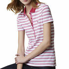 Lacoste Stretch Polo Bigarreau Cherry T-Shirt Poloshirt Damen PF7185 CL2 Rot