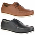 Mens Hush Puppies Briggs Portland Casual Leather Moccasin Shoes Sizes 6 to 12