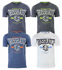 Crosshatch New Men's Printed T-Shirt Athenas Branded Slim Print Top S M L XL XXL