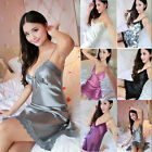 NEW Lady Lace Satin Lingerie Sleepwear Night Gown Babydoll Dress Nightie Robe $5.14 USD