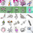 Silver Plated Crystal Cross Wing Charms Bead Pendant For Necklace Chain DIY Gift