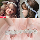 Lonely  Pretty Baby Princess Flower Girls Hair Band Children Rhinestone Headband