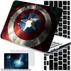 "Captain America Shield Hard Painting Case Cover For Macbook Pro Air 11""13""15""12"""