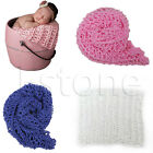 Newborn Cotton Thread Knitting Blanket Baby Photography Props 40 x 60cm