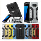 Shockproof Armor Rugged TPU+PC Kickstand Card Slot Case Cover For iPhone Samsung