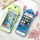 3D Cartoon Perched Stitch Mike Soft Silicone ShockProof Cover Case For Phones
