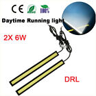 2x Waterproof Car DRL Fog LED Lights Bar Daytime Running COB Bright Drive Lamp
