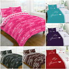 Luxury Polycotton Duvet Cover with Pillow Case Quilt Cover Bedding Set