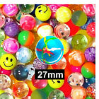 4 Multicolour Jet Power Bouncy Balls 3 Sizes Available Party Bag Stocking Filler