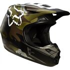 Fox  V1 Camo Motocross MX MotoX Enduro Off Road Quad Helmet - Green