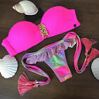 Sexy Womens Padded Bikini Set Triangle Swimsuit Swimwear Brazilian Bathing Suit