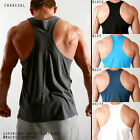 Mens 5PACK! RACERBACK COTTON Gym Training Singlets Weight lifting Muscle Tank