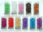 Homestreet Pack Acrylic Decorative Crystals Displays Craft Vases Various Colours